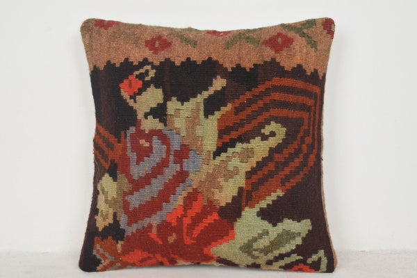 Kilim Pillow Canada B00484 20x20 Interior Folkloric Hand Woven