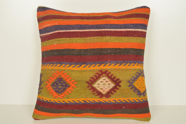 Kilim Floor Pillow Cushion C01085 18x18 Room Country Primary