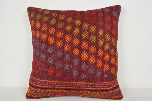 Kilim Pillow Pink A00586 24x24 Flat Society Special Tradition