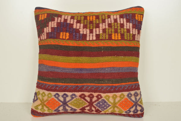 Kilim Cushions Amazon C01087 18x18 Armchair Geographical Cotton
