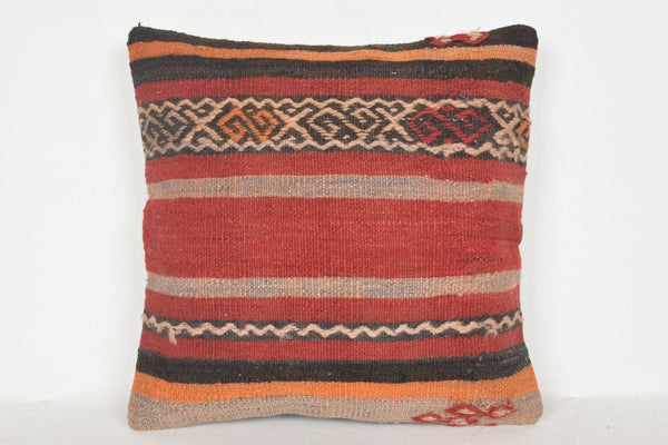 Kilim rug Pillow Covers D00587 Livingroom pillow case Ethnic cushion cover 16x16