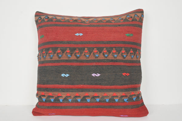 Kilim Pillows Grey A00688 24x24 Hippie Tapestry Antique
