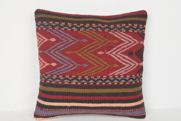 D00198 Kilim Pillow Covers 16x16, Western pillow case 16x16, Nomad cushion covers 16x16