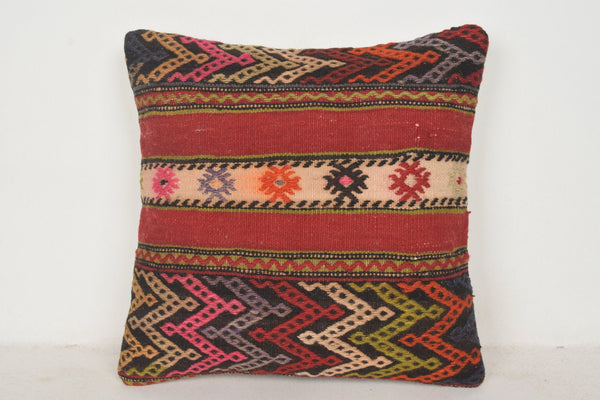 Moroccan Kilim Pillows C00788 18x18 Hotel Excellent Fragment
