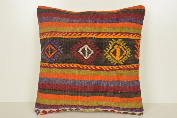 Kilim Accent Pillows C01089 18x18 Asian Solid Historic