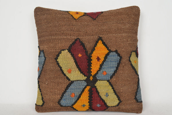 Kilim Pillow Gold C00189 18x18 Needlework Substantial Art