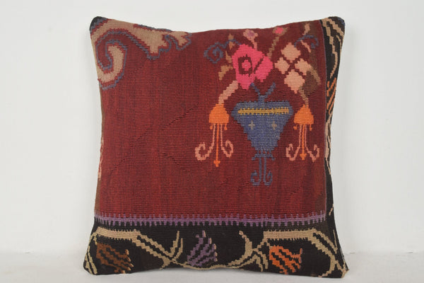 Kilim Indoor Outdoor Rug Pillow B00689 20x20 Knitting Case Country