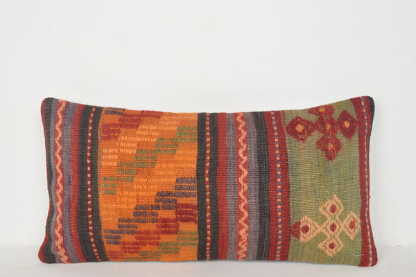 Turkish Rug Value Pillow F01190 Lumbar Moroccan Southwestern