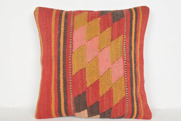Kilim Pillow Turkish D01109 16x16 Private Lifestyle Tropical