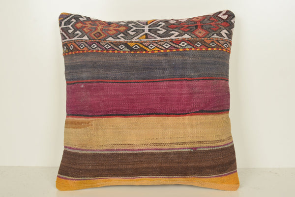 Wool Kilim Throw Pillow C01091 18x18 Handicraft Fine Sale