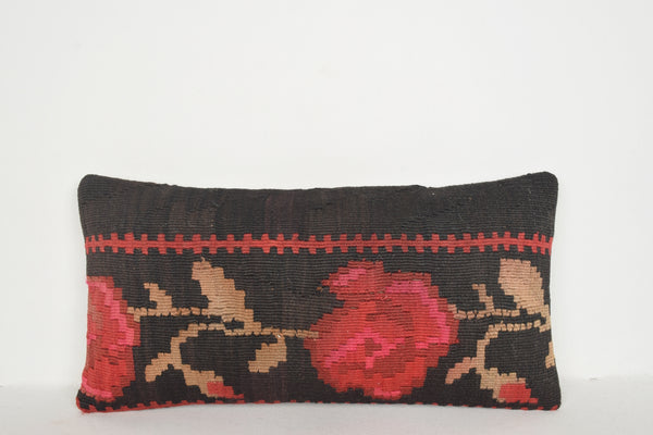 Turkish Kilim Rugs Vancouver Pillow F00591 Lumbar Luxury Easter Knotted
