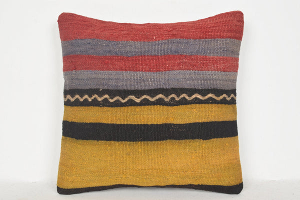 Kilim Cushions Brighton D00591 16x16 Natural Handicraft Embellishing