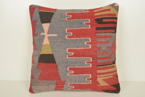 Moroccan Kilim Pillows C01492 18x18 Middle East Prehistoric Bedroom