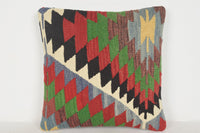 Turkish Rug Amazon Pillow D01492 16x16 Old Knitted Western