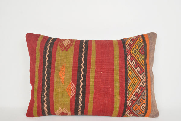 Kilim Body Pillow E00096 Lumbar Old Homemade Aztec