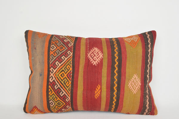 Kilim Bolster Pillow E00097 Lumbar Nomad Beautiful Historical