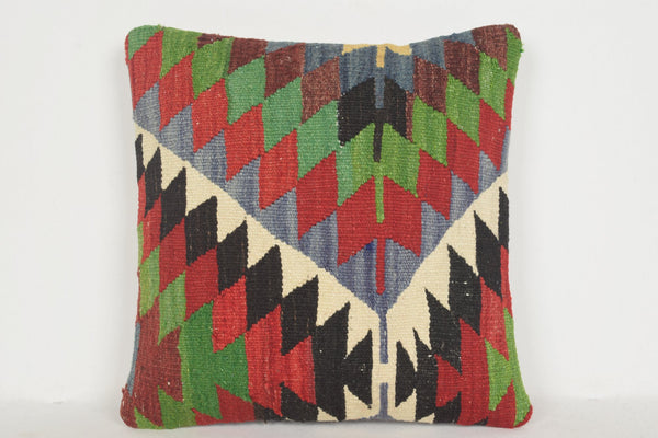 Kilim Floor Cushion UK A00097 24x24 Native Reliable Vintage Gypsy