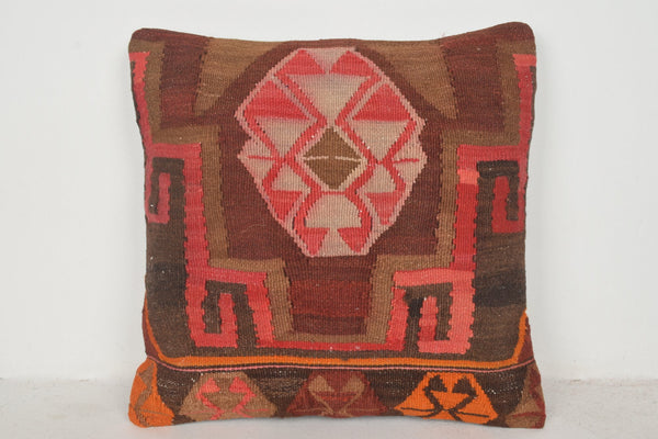 Pink Kilim Rug UK Pillow B00598 20x20 Personal Hand Knot Armchair