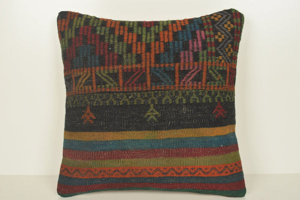 Turkish Rug Pillows C00898 18x18 Special Unusual Pretty