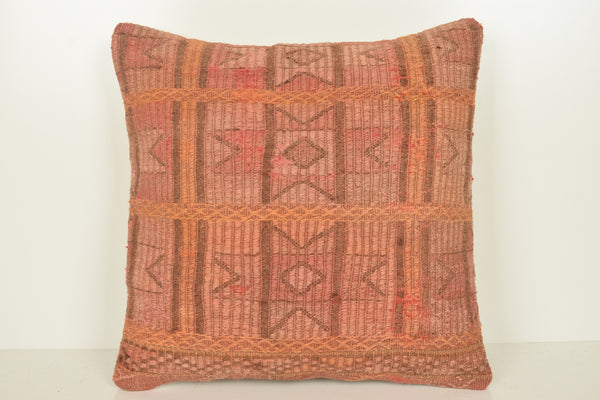 Kilim Rug Cushions C01499 18x18 Moroccan Celtic Excellent Flat