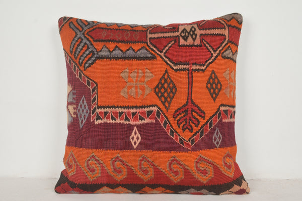 Kilim Floor Pillow Cushion A00499 24x24 Folk cushion cover Cheap pillowcase