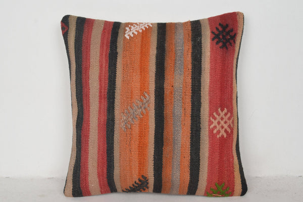 Turkish Kilim Cushions UK C00701 18x18 Woven Culture Satisfactory