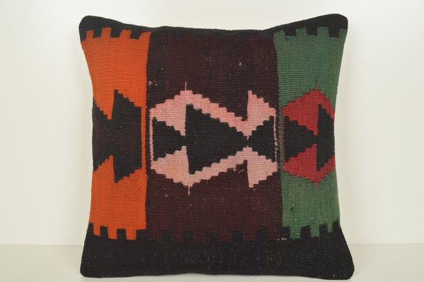 Kilim Floor Pillow Pouf C00801 18x18 Furnishing Handknit Wedding
