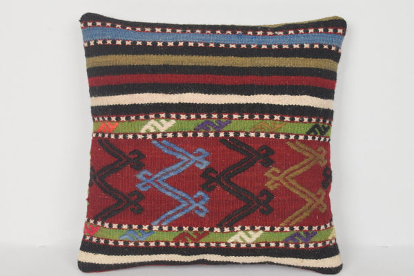 D00211 Hand Crafted Kilim Pillow Decorator Hand Knot Anatolian Adornment