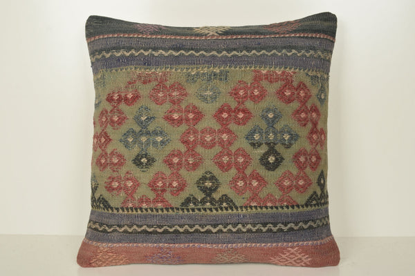 Kilim Rugs Gumtree Pillow B02104 20x20 Eclectic Social Fragment