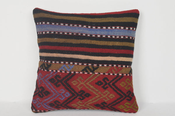 Kilim Pillow Living Room D00214 16x16 Knit Euro Hand crafted