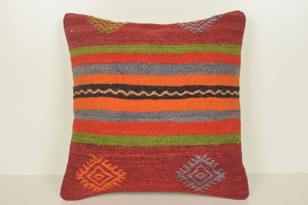 Turkish Chenille Cushions C00907 18x18 Handicraft Clean Woollen