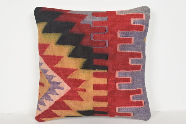 Overstock Bohemian Pillows D00812 16x16 Knotted Hand Embroidery