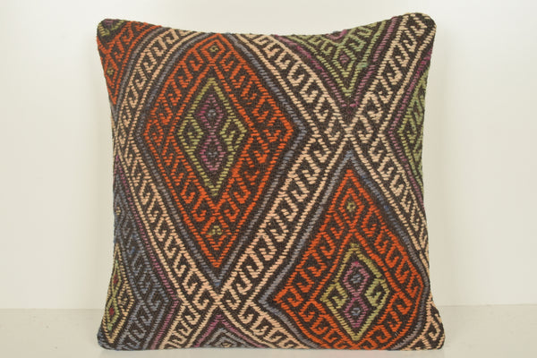 Turkish Kilim Pillows Shop C01513 18x18 Salon Hand Embroidery Lifestyle