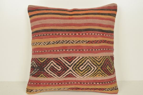 Kilim Pillows Los Angeles C01518 18x18 Historical Collection Knotted Pouf