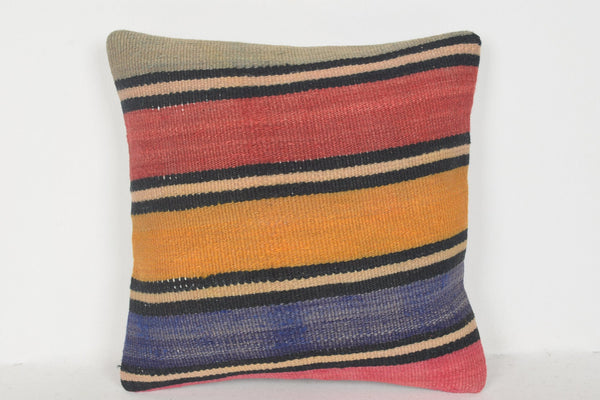 Small Kilim Pillow D00712 16x16 Tuscan Christmas Cotton