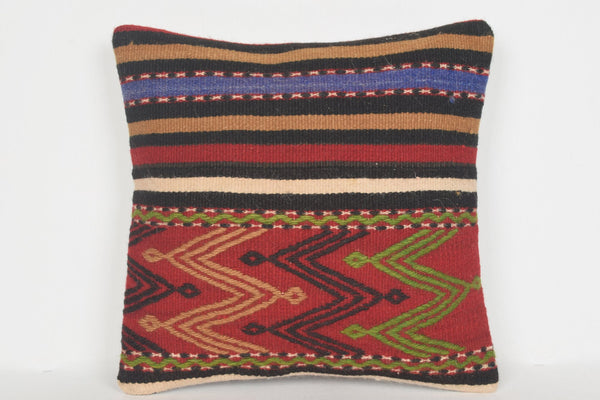 Kilim Cushion Afterpay D00612 16x16 Primary Cotton Boho