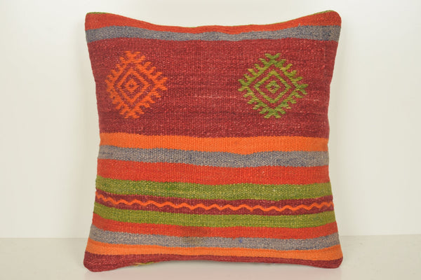 Kilim Pillow Covers on Sale C00922 18x18 Handknit Historic Hand knot