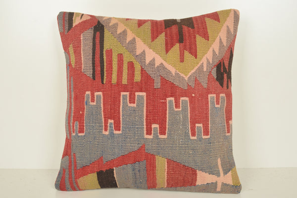 Turkish Tapestry Pillow C01526 18x18 Unique Retail Handmade Eclectic