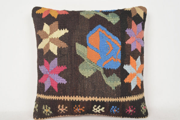 Kilim Lumbar Pillows for sale C00213 18x18 Asian Rich Body