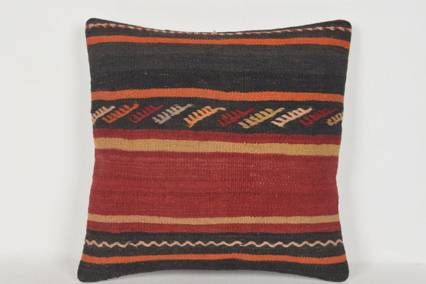 Long Kilim Cushion D00313 16x16 Embroidery Country Handiwork