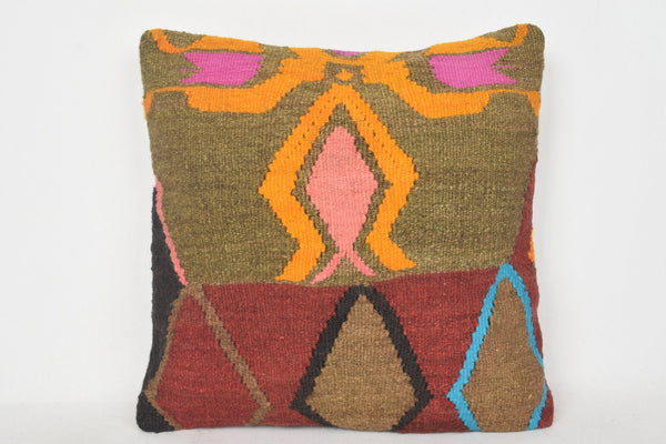 Western Turkish Interior Kilim Country Pillow Sofa Case 18x18