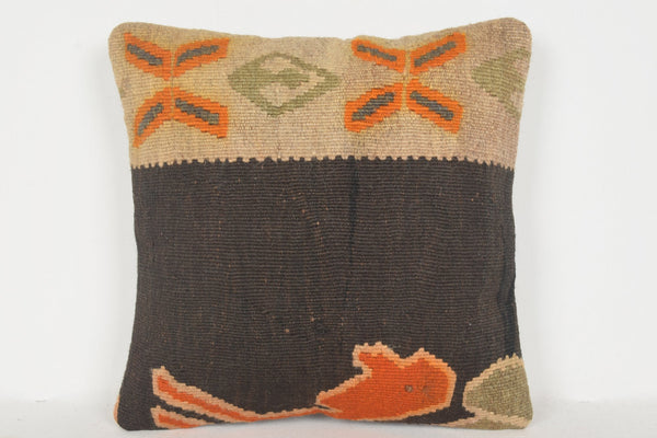 Vintage Antler Pillow D00838 16x16 Country Handicraft Hellenistic