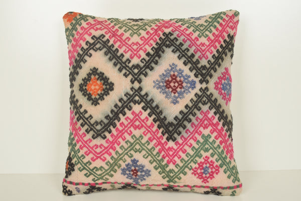 Turkish Embroidered Cushions C01541 18x18 Rare Bedding Novelty