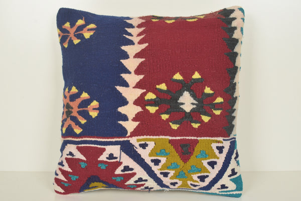 Kilim Pillow Australia C01542 18x18 Pastel Old Soft Wall covering Throw