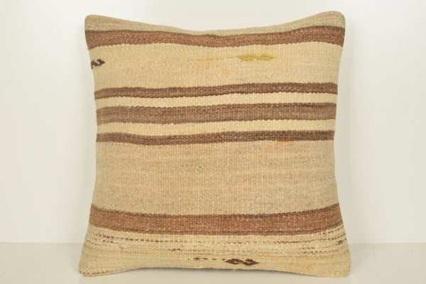 Bright Kilim Throw Pillow C00943 18x18 Kelim Rich Unique