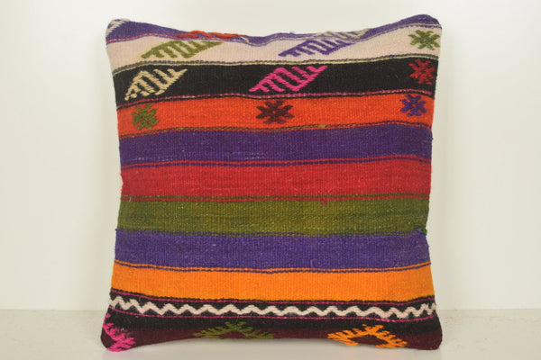 Old Kilim Pillows C01147 18x18 Neutral Design Comfortable