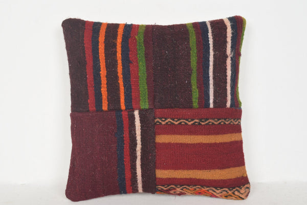Kilim Rugs Edmonton Pillow D00715 16x16 Handicraft Retro Euro