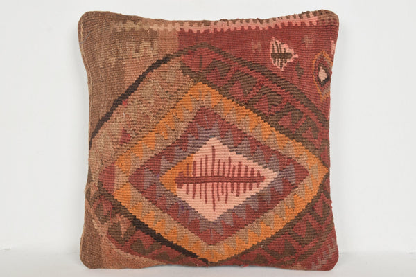 Kilim Rugs Sheen Pillow D01216 16x16 Fine Old Eclectic