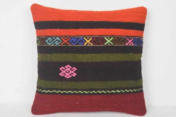 Vintage Kilim Pillows 16x16 Case