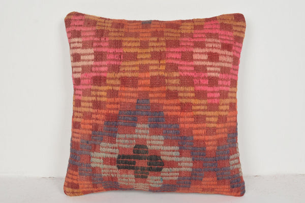 Kilim Rug Washed Pillow D01662 Throw Hippie Ethnic Free Shipping